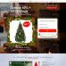 Шаблон сайта-одностраничника искусственные ёлки с шишками
