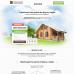Шаблон сайта-одностраничника строительство домов из бруса и сруба